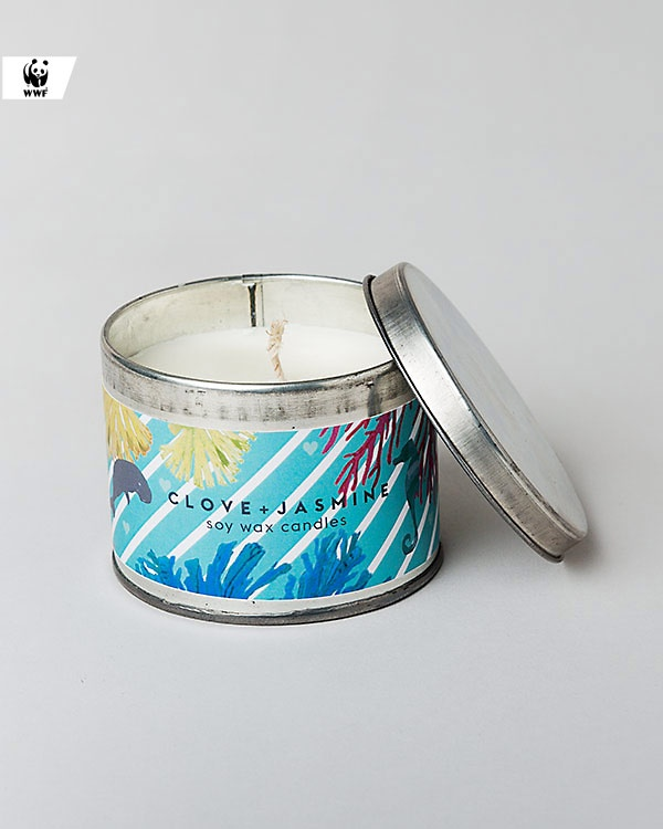Lighthouse Tin Candle