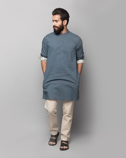 Chandni Chowk Dotted Kurta - Blue