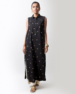 Parallel Kurta - Black