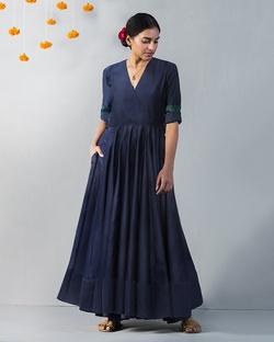 Angrakha Kurta - Blue