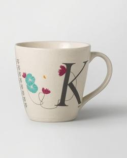 Alphabet K Mug - Stoneware
