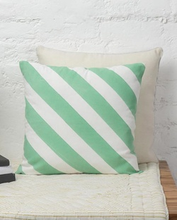 Verandah Candy Stripe Cushion - Aqua