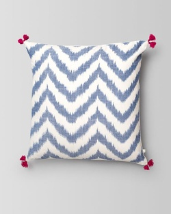 Kasuri Chevron Lumbar Cushion