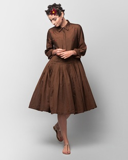Luna Heart Dress - Brown