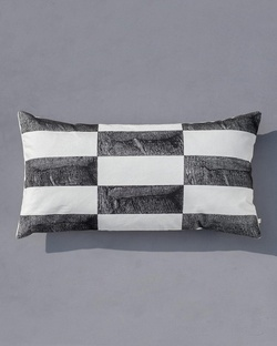 Stone Town Lumbar Pillow - Black & White