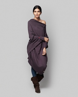 Victoria Slouchy Pullover - Purple