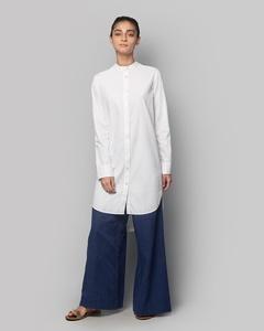 Button-down Tunic - White