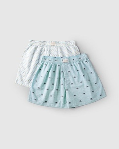 Elephant & Heart Boxer (Set of 2) - Turquoise