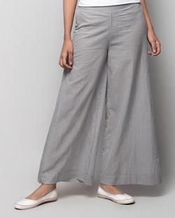 Basic Check PJs - Grey & White