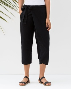 Wren Narrow Ankle Pants - Black