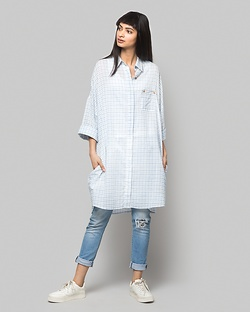 Umi Check Shirtdress