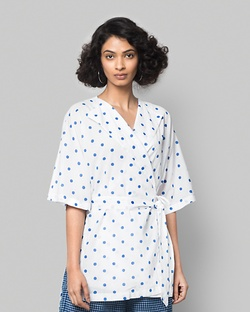 As Per Plan Wrap Top - Dots