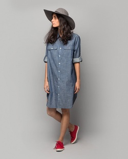 Shibui Chambray Shirt Dress - Indigo