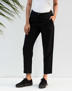 Narrow Hem Pants - Black