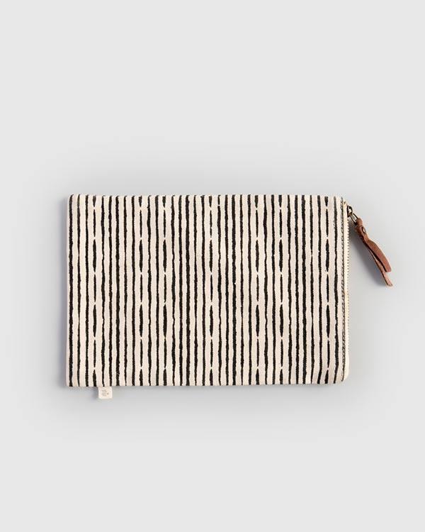 Tora Poche - Charcoal Stripe
