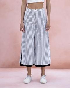 Marshmallow Stripe Pants - Grey