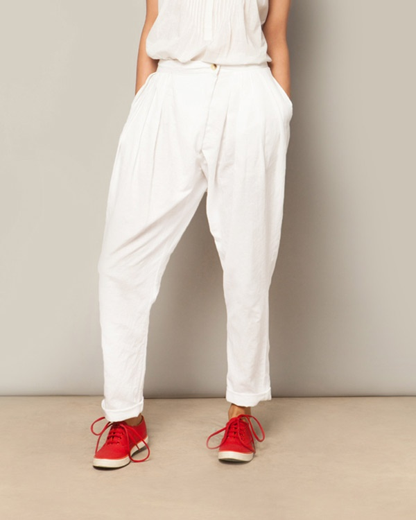 Overlap Trousers - White