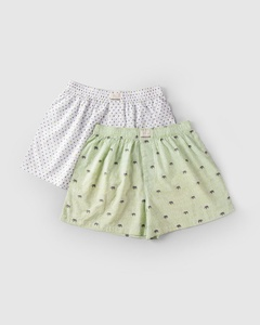 Elephant & Heart Boxer (Set of 2) - Lime