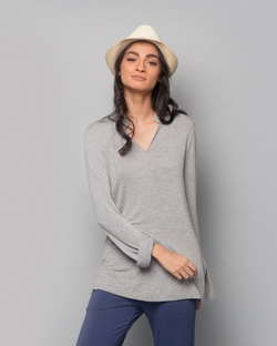 Shibui Short Kurta - Soft Grey