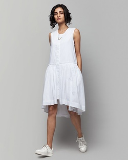 Sora Drop-waist Plain Dress