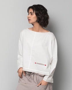 Nico Fan Top - Ivory