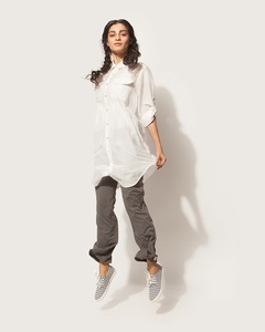 Shibui Shirt Dress - Soft Grey