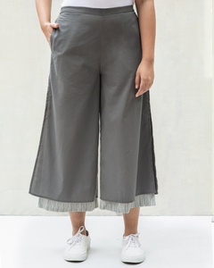 Marshmallow Stripe Pants - Charcoal