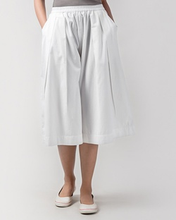 Front Pleat Pant - White
