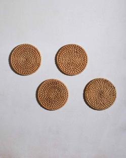 Rattan Coasters (Set of 4)