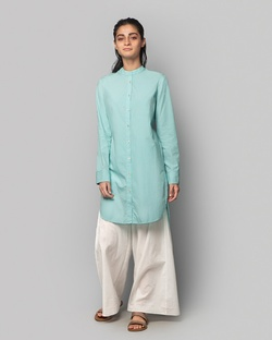 Button-down Tunic - Aqua