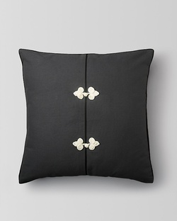 Chinese Knot Cushion - Charcoal