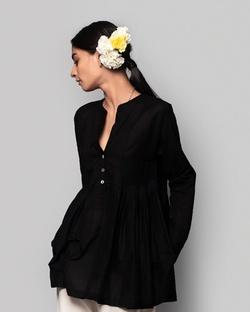 Ambar Peasant Blouse - Black