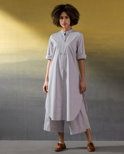 Eclipse Kurta - Soft Grey