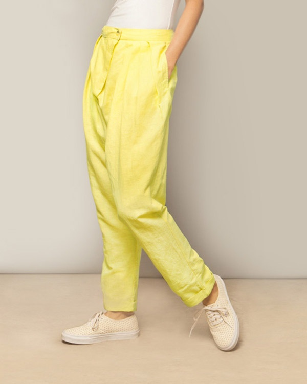 Overlap Trouser - Lime