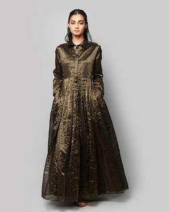 Stella Chanderi Dress - Black & Gold
