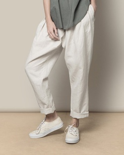 Overlap Trouser - Natural