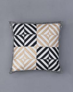 Tessera Cushion - Black & Gold