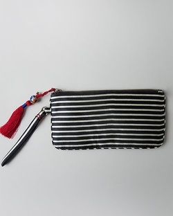 Stripes Pouch - Black & Ivory