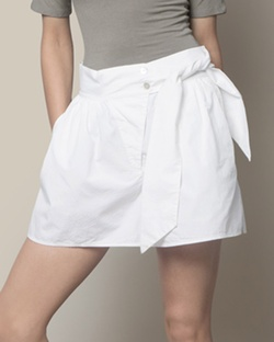 Poplin Shorts - White