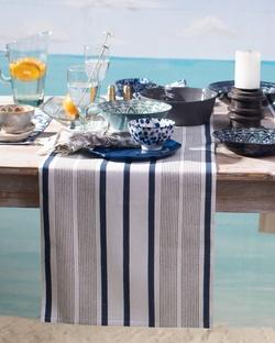 Zanzibar Stripe Runner - Blue