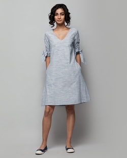Coco Check Dress - White Base
