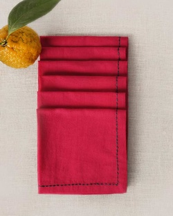 Verandah Cocktail Napkins (Set of 6) - Fuchsia