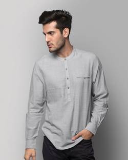 Pondicherry Striped Shirt - Grey