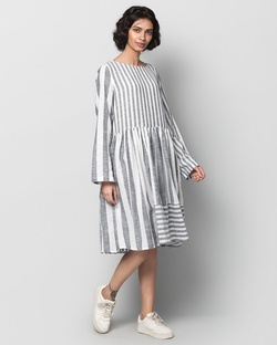 Rainy Season Striped Dress