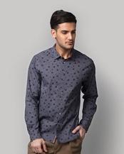 Luvia Abstract Print Shirt - Blue