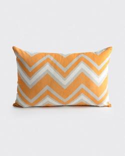 Mahe Chevron Pillow -Tangerine