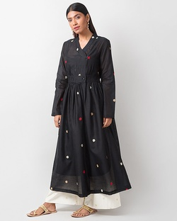 Wrap Kurta - Black