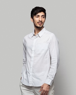 Bandra Striped Shirt - Navy