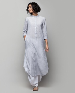 Classic Long Striped Kurta