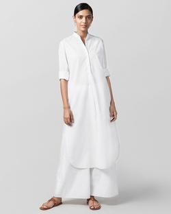 Basic Long Kurta - White